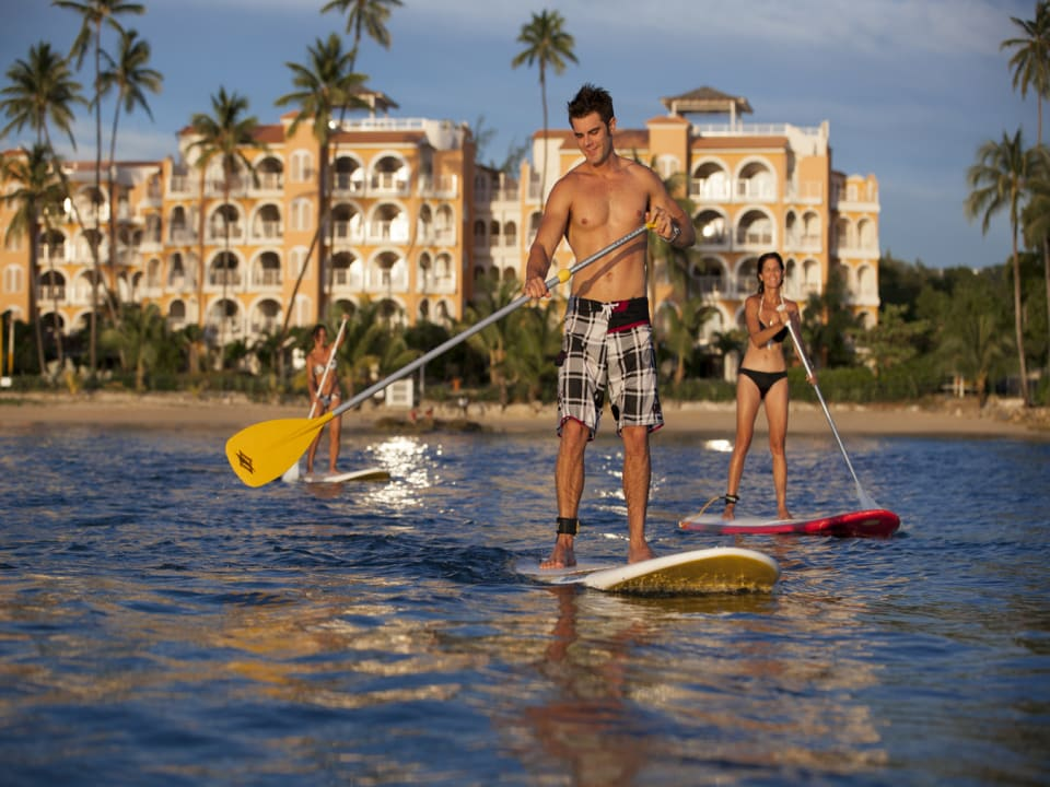 Paddleboard along the shore