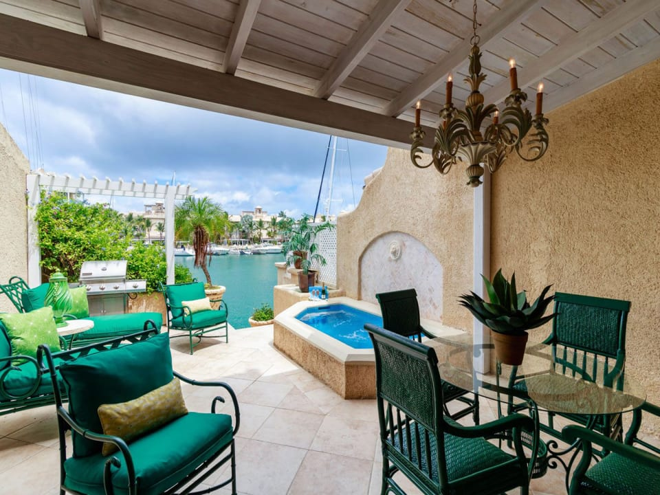 Partially covered patio ideal for entertaining
