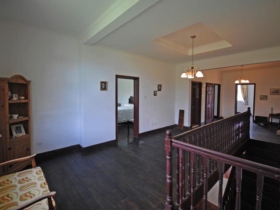 Attractive wooden floors upstairs