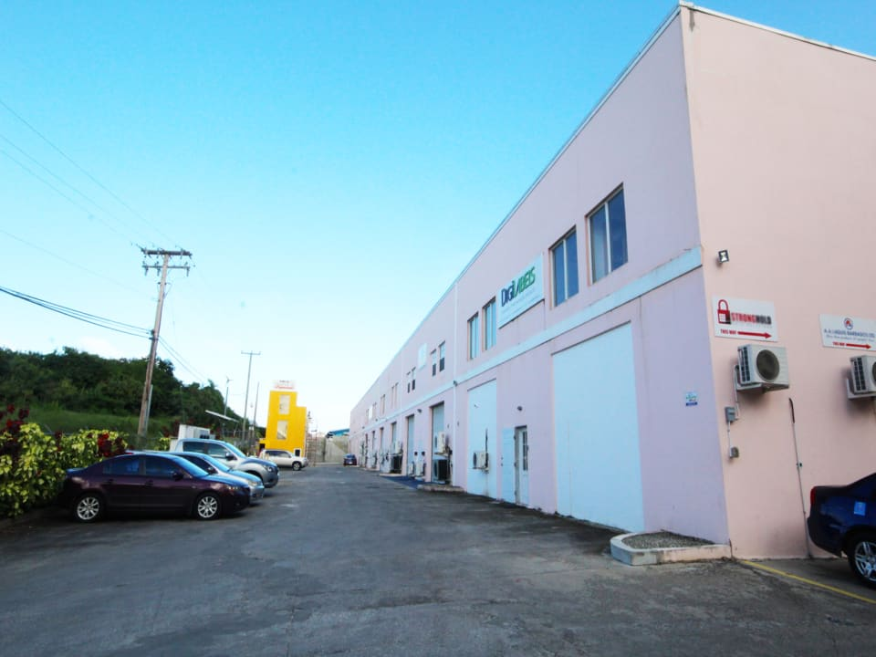 Warehouse with parking