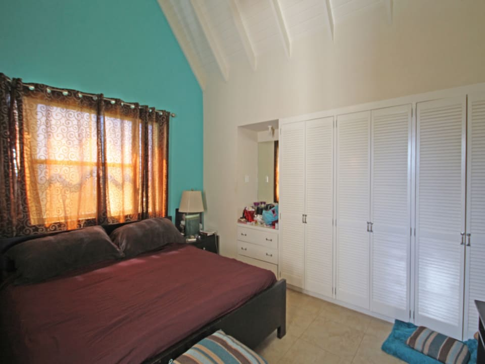 Master Bedroom with tall ceilings