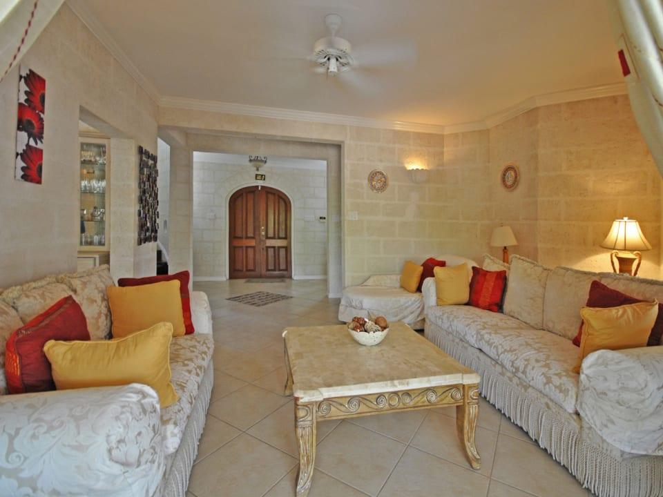 Sitting room opens to verandah