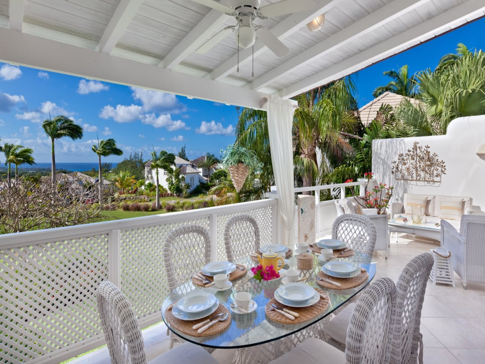 Patio overlooking the Royal Westmoreland Golf Course