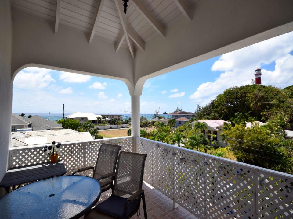 Patio terrace with sea views