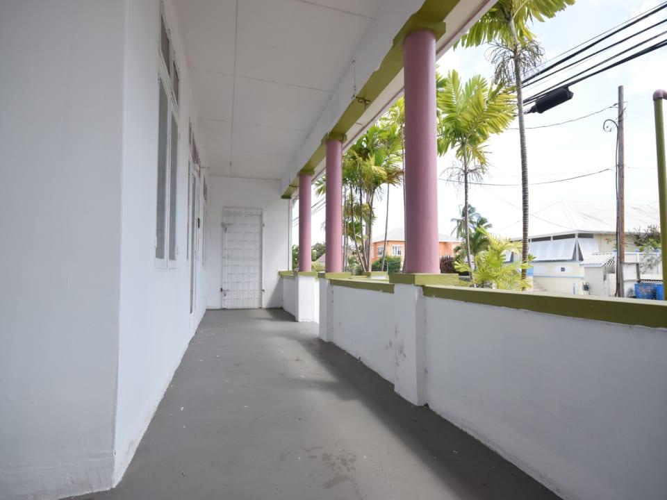 Outdoor terrace area
