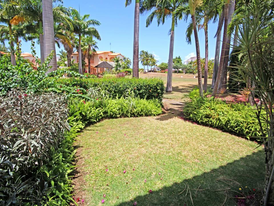 Garden and shared grounds beyond