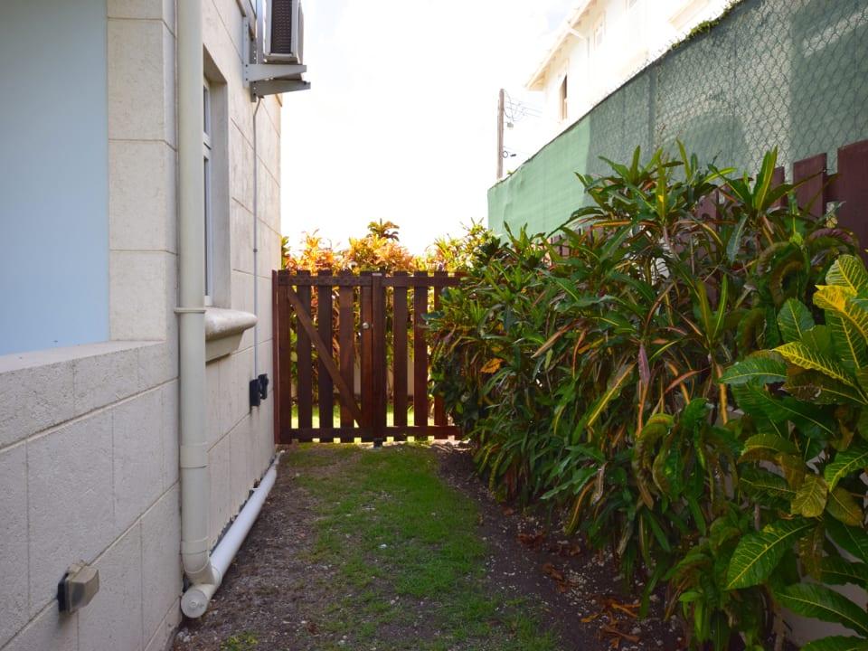 Fenced yard