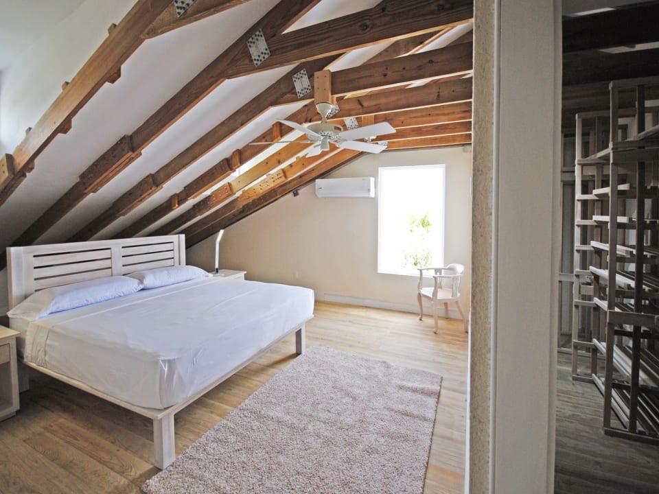 Loft bedroom and walk in closet