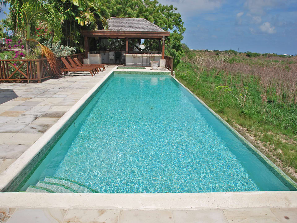 Large pool with country views