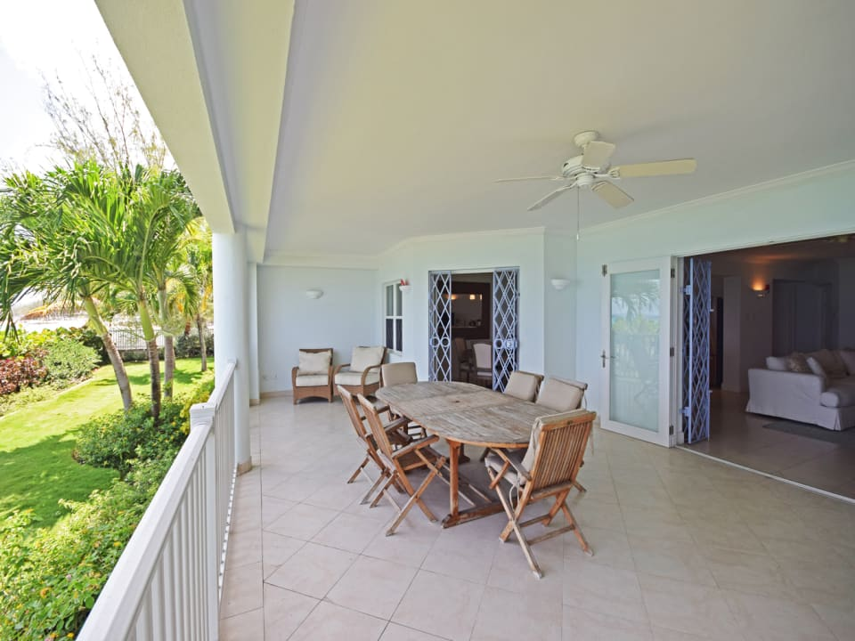 Spacious patio flowing from the living room