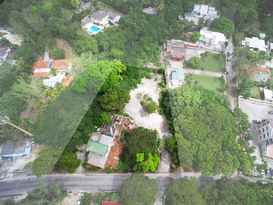 Aerial view of the site