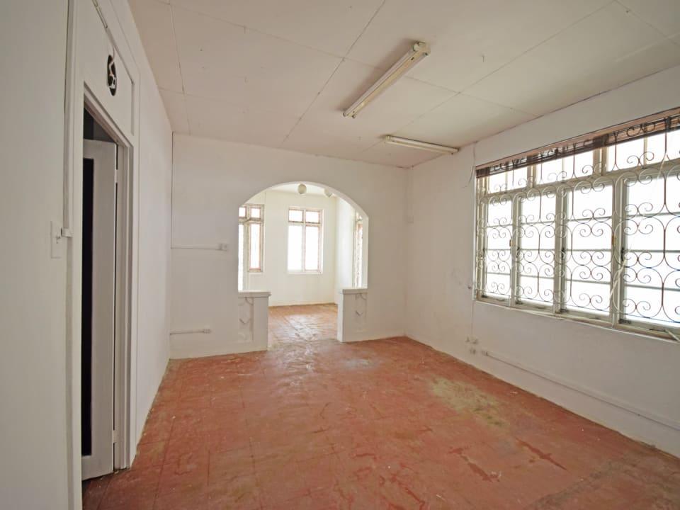 Interior space looking towards main entrance