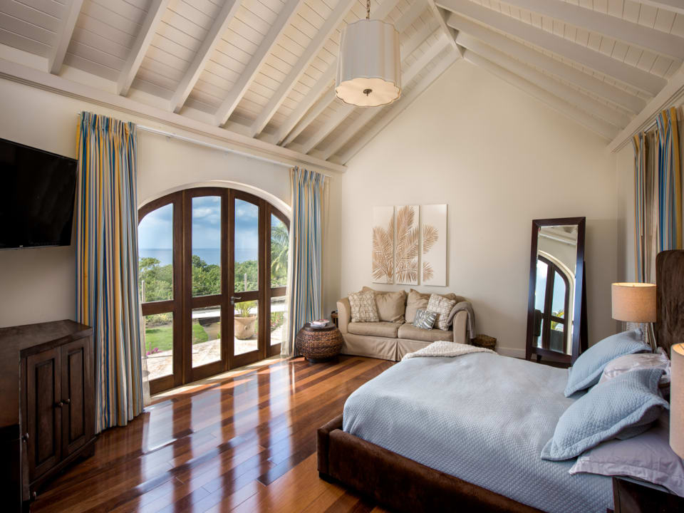 Master bedroom suite that faces the Caribbean Sea