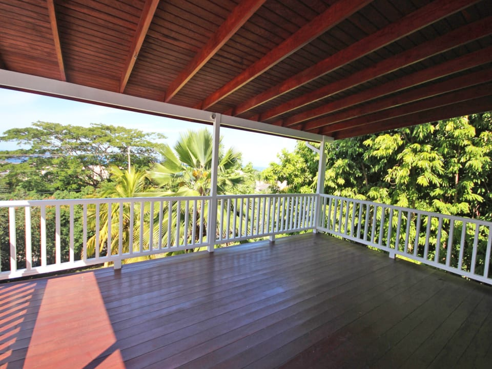 Wooden deck off of the master suite