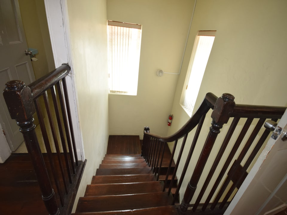 Stairwell leading to lower level
