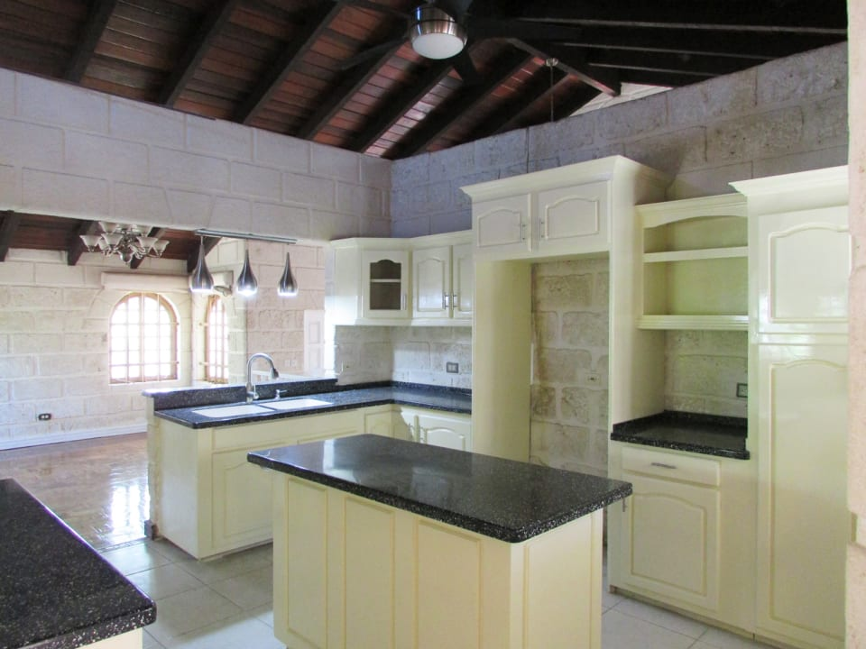 Decent size kitchen flows on to the dining area