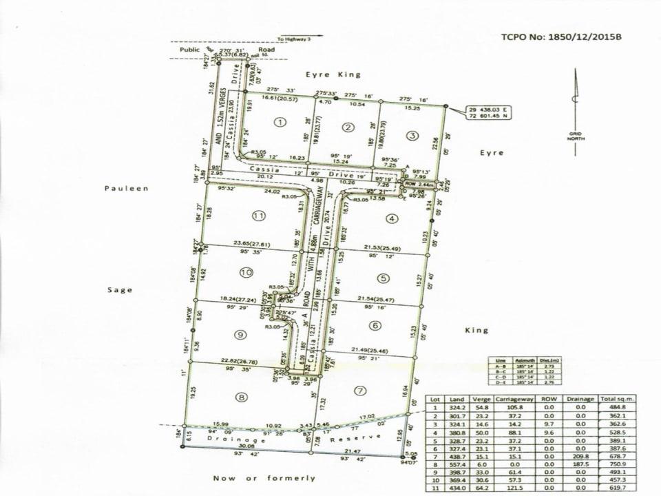 Site plan of the development
