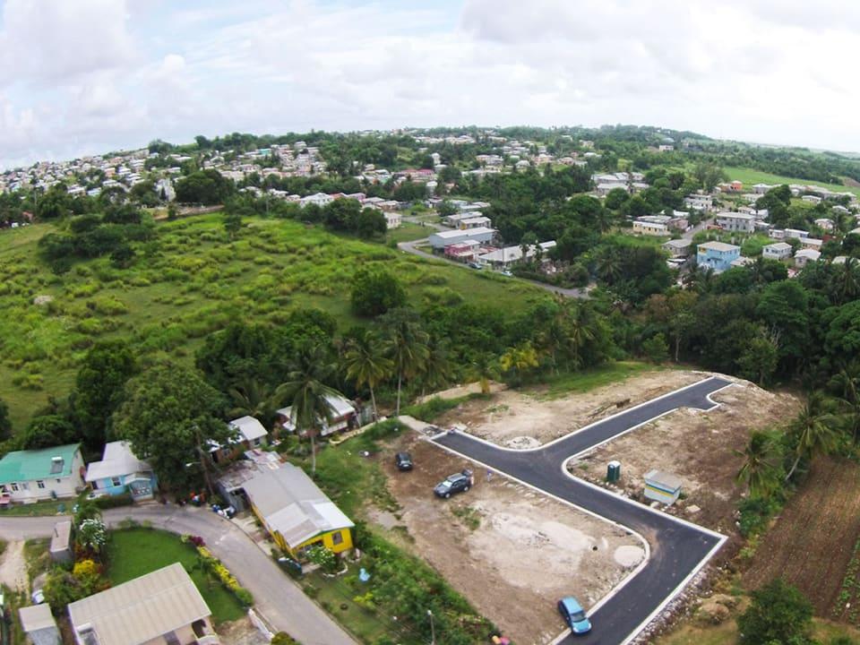 Aerial view of Roach Village Development