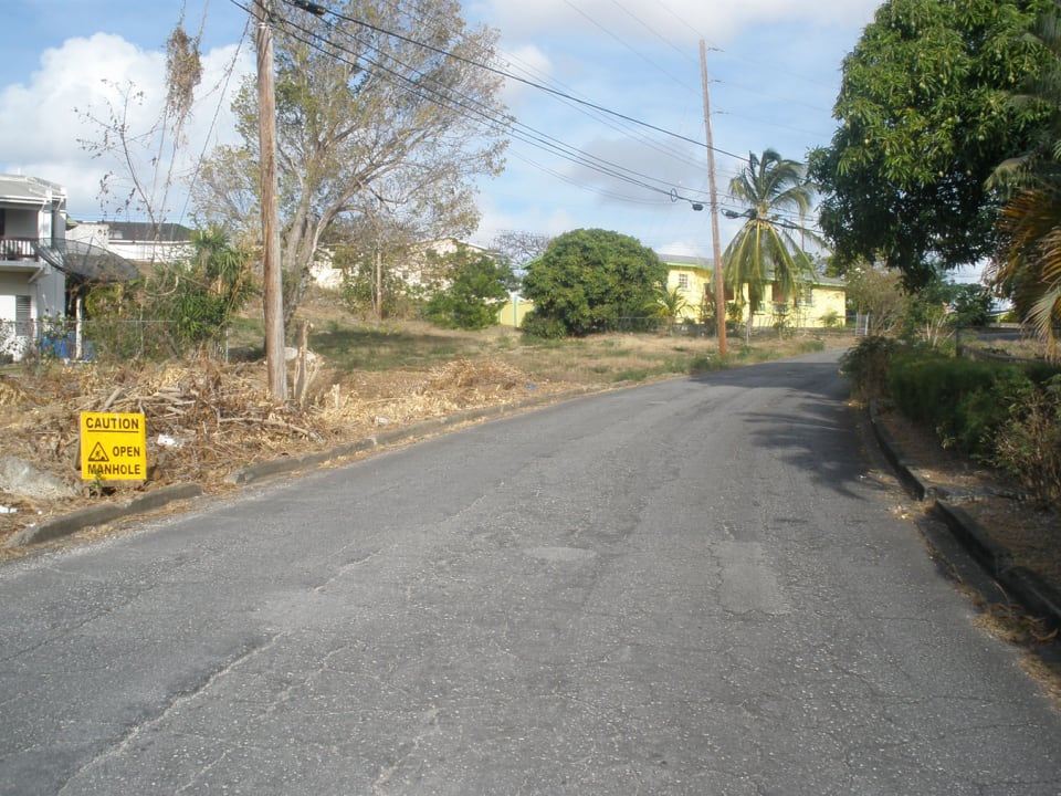 View of access road