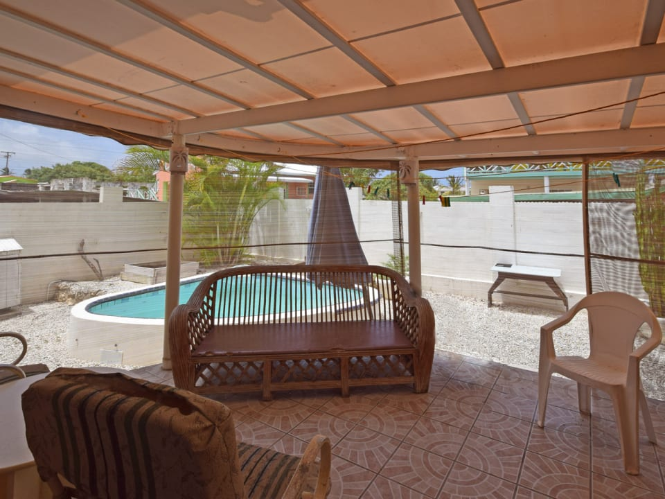 Patio and plunge pool