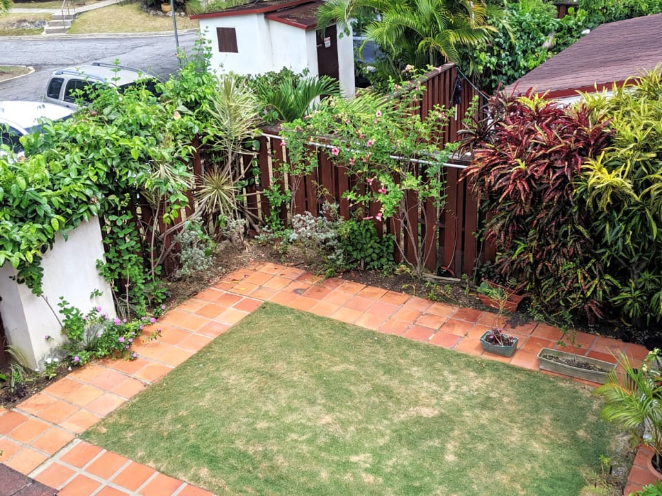 Small garden at the front of the property