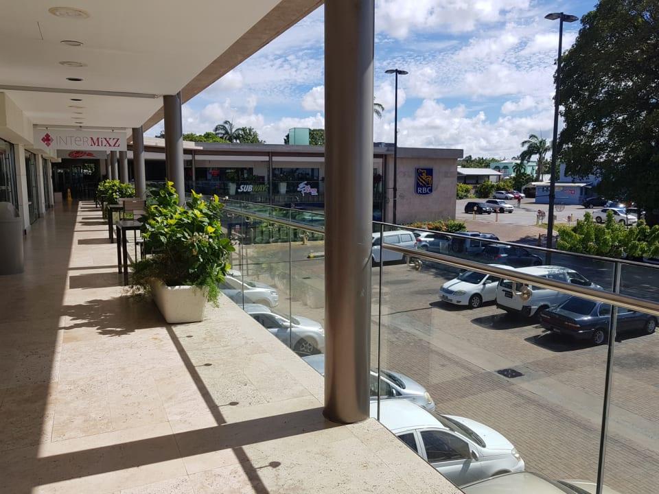 View towards the car park