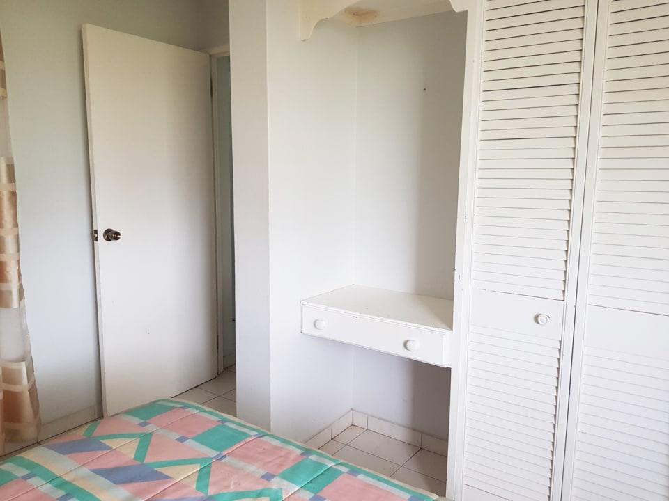 Bedroom with bathroom adjacent