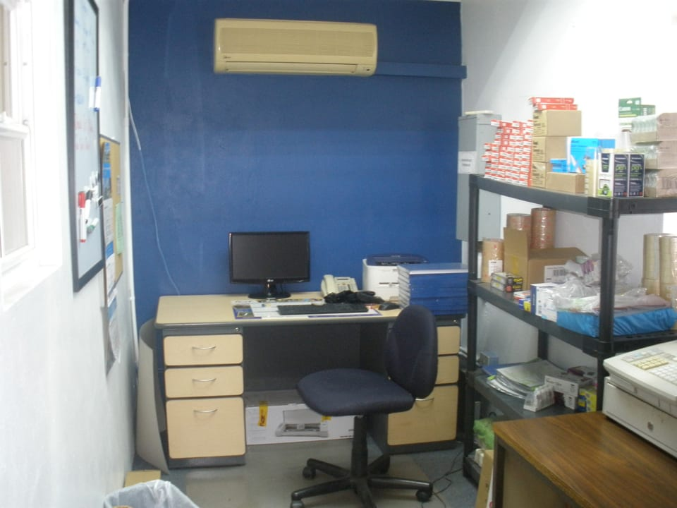 Office on lower level