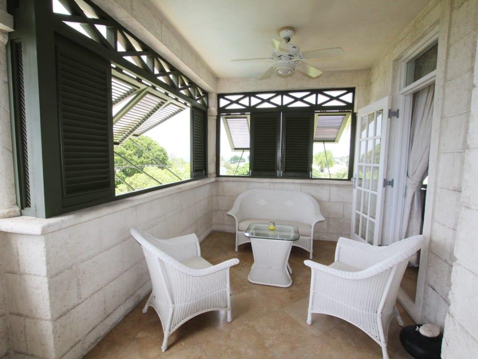 Terrace lounging area