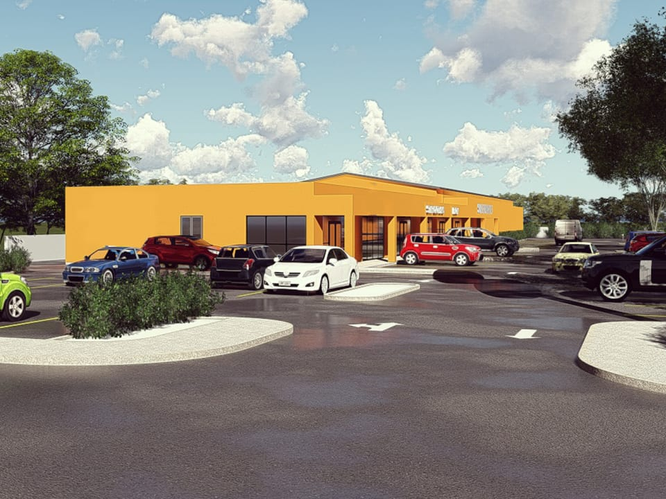 Approved plans available for strip mall