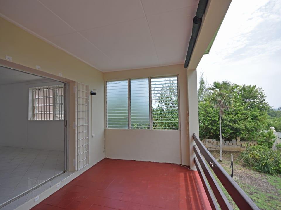 Covered balcony