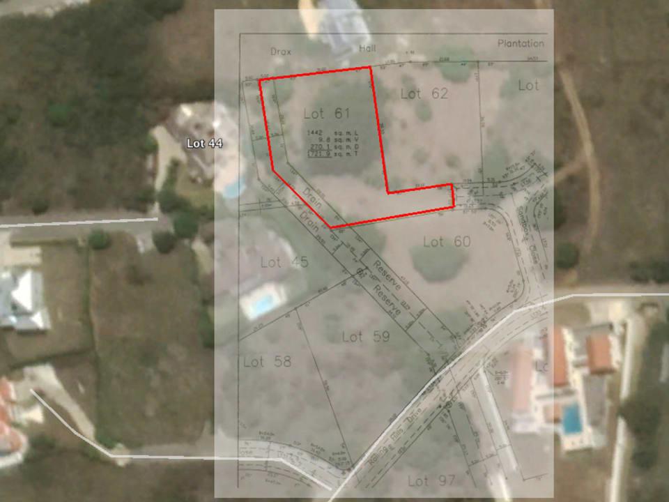 Plot Plan showing lot 61