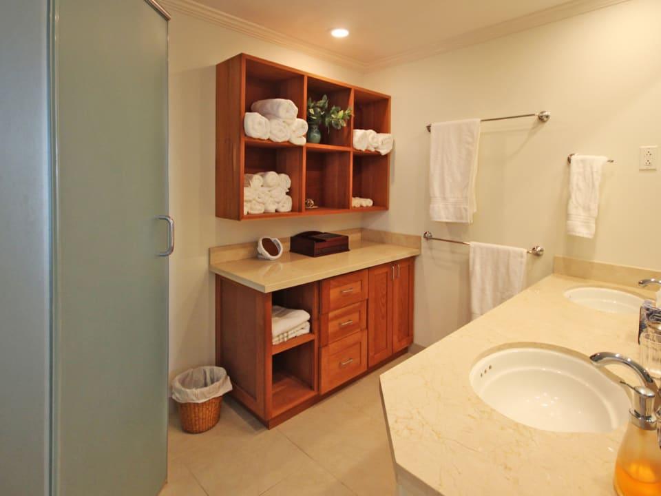 Master bathroom with double vanity