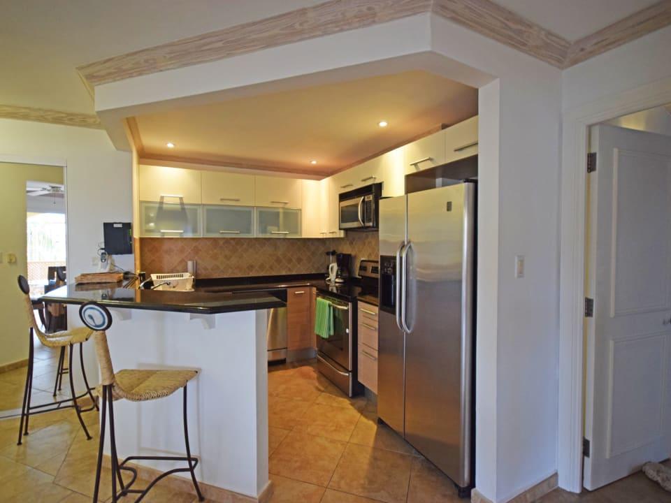 Modern kitchen with a breakfast bar