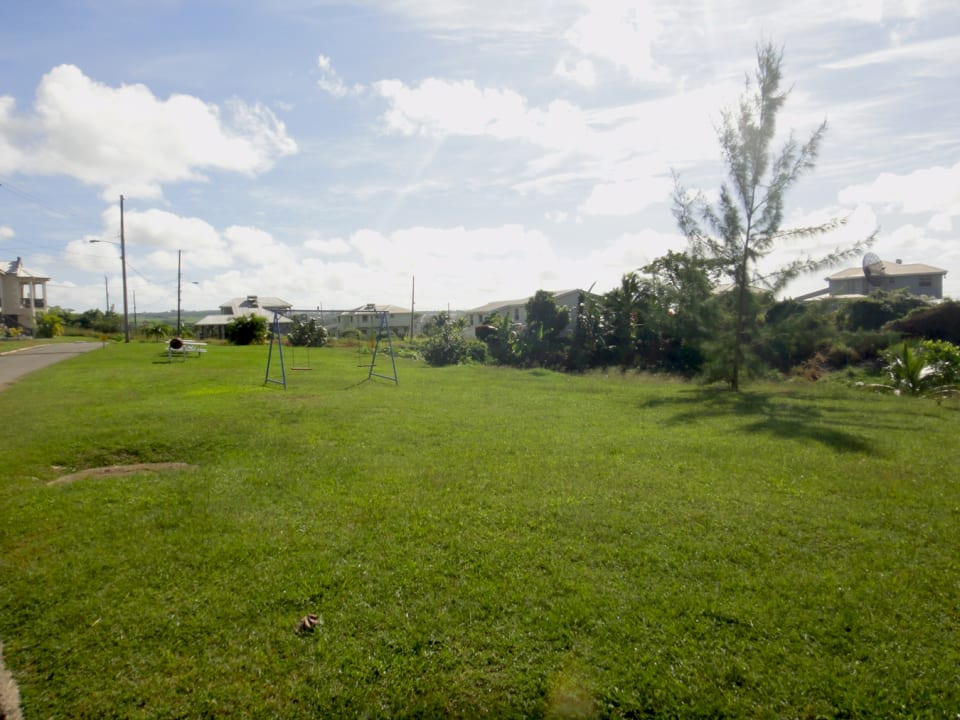 Home overlooks the community park
