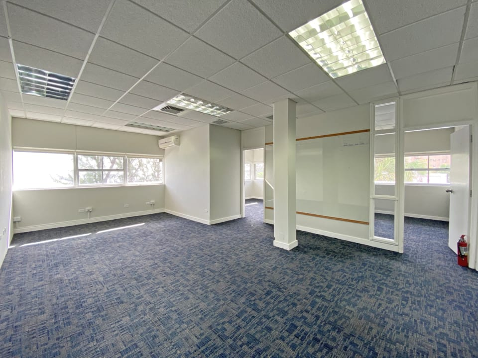 Fitted out space with offices and sea views