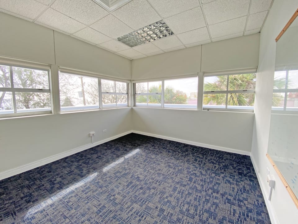 Corner office with sea views