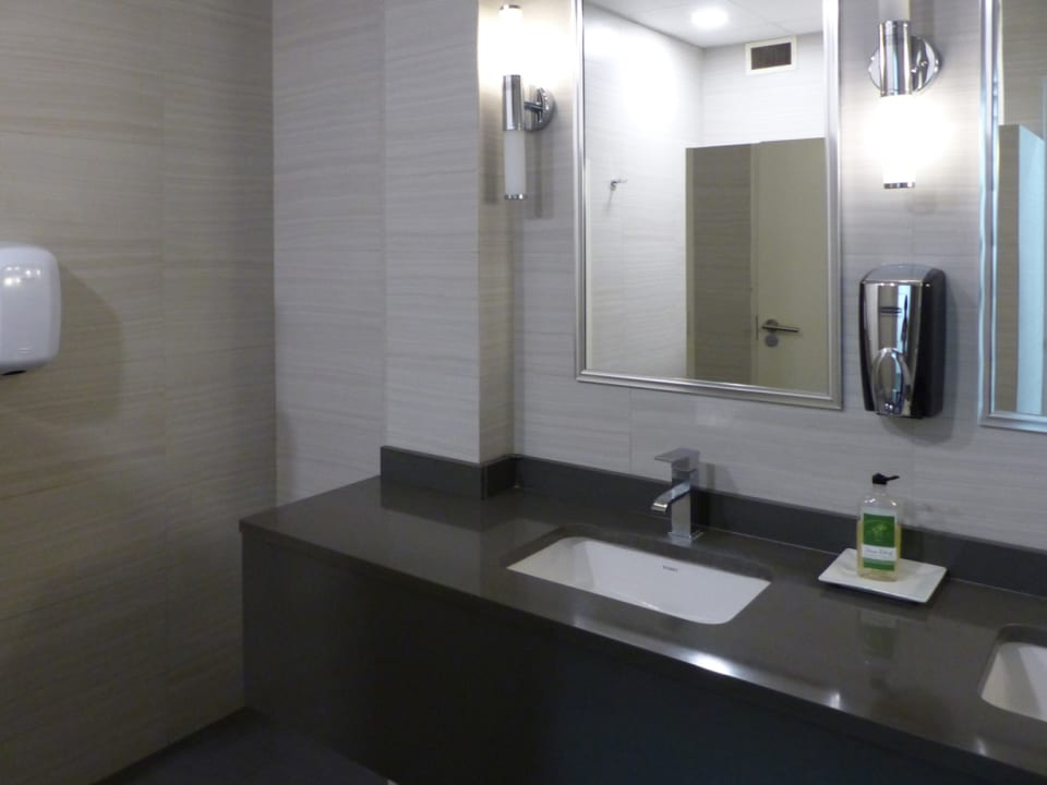 Common area washrooms on each level