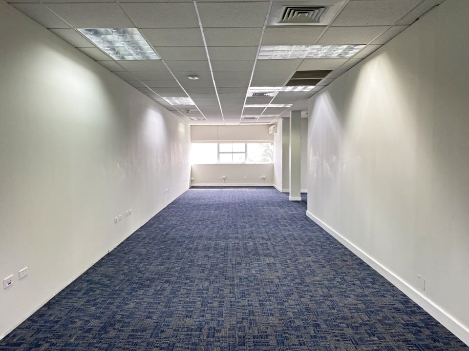 Fitted out space with sea views