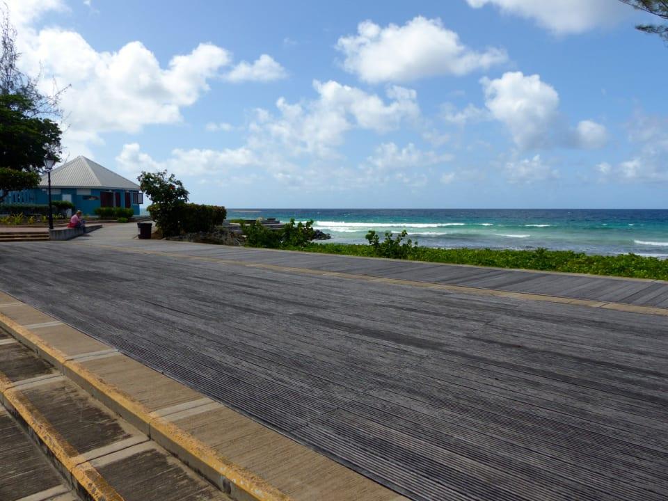 South Coast Boardwalk across the street