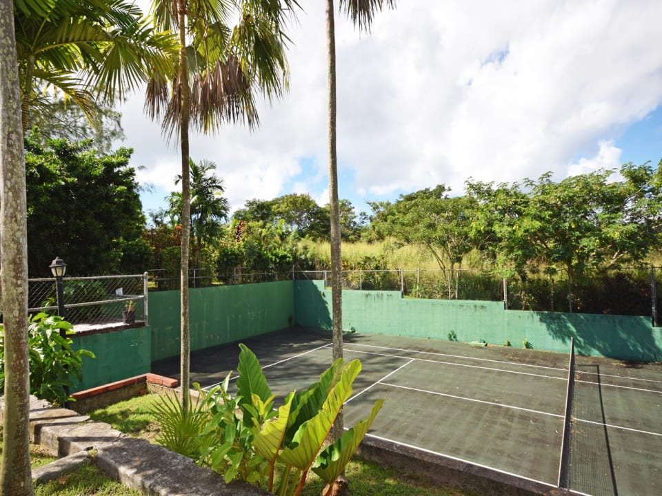 Tennis Courts just off of the pool and deck