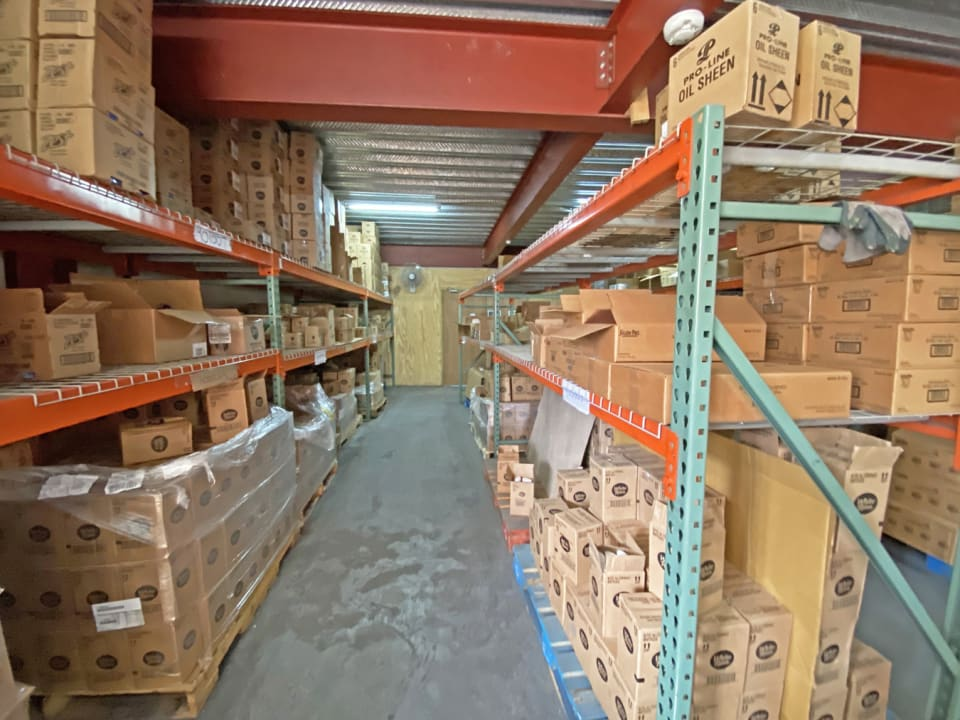 Warehouse space on lower level