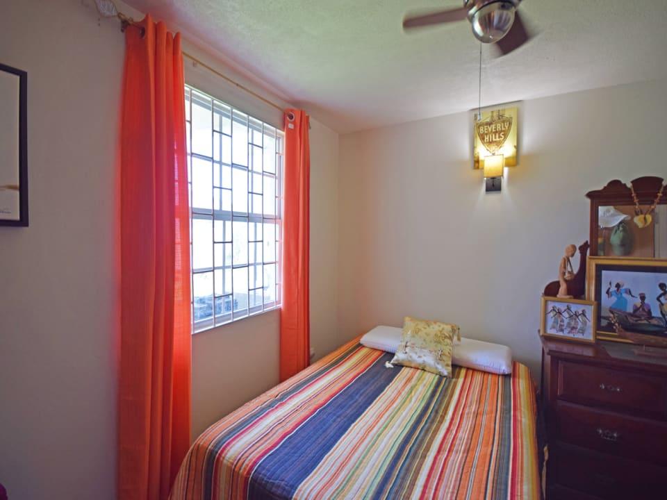 Well lit bedroom