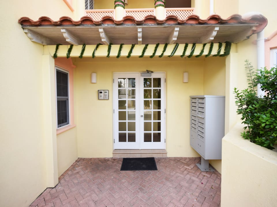 Terraces entrance