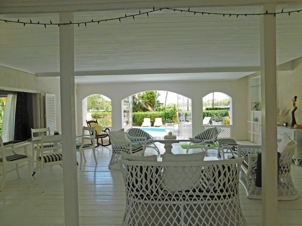 Open air patio overlooking the pool
