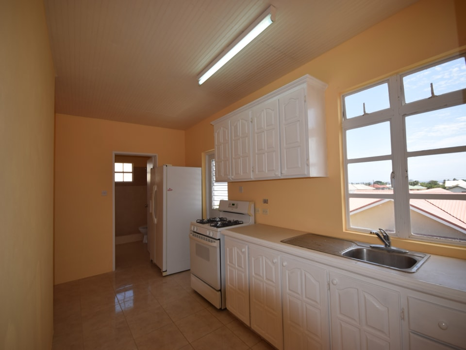 Kitchen with views from the windows