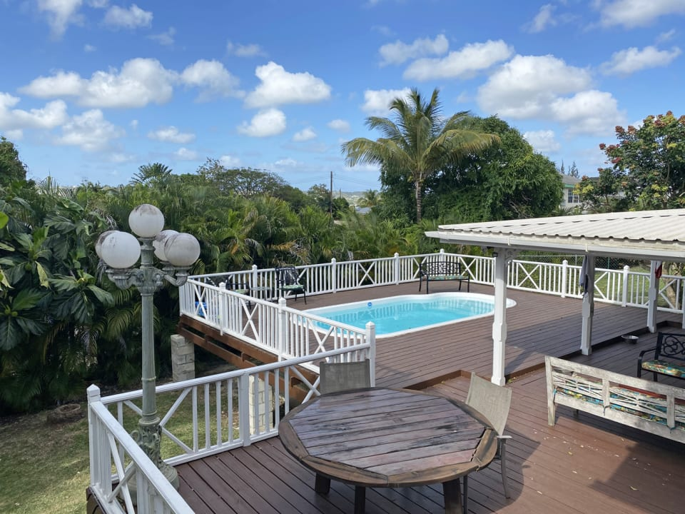 Large verandah with pool and expansive deck