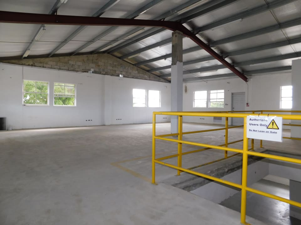 Open loading dock to the Mezzanine
