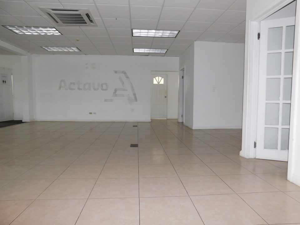 Open plan office space by the main entrance