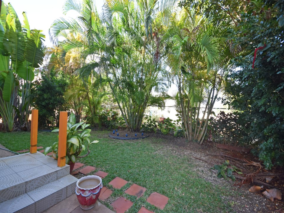 Shaded area by back patio